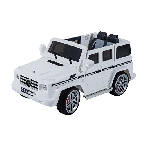 Qaba 301-011 Mercedes Benz G55 Kids Electric Ride-on Car with MP3 and Remote Control, 12V, White (Mercedes Benz Kids Electric Car compare prices)