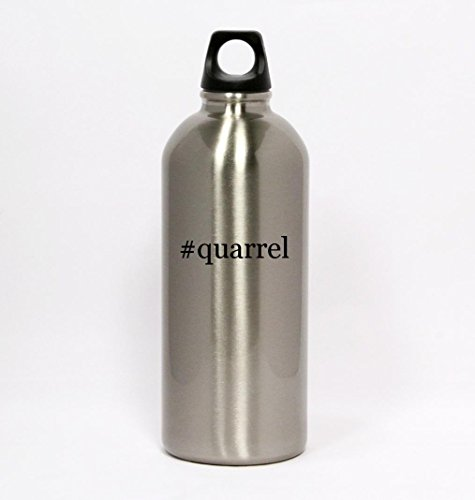 #quarrel - Hashtag Silver Water Bottle Small Mouth 20oz