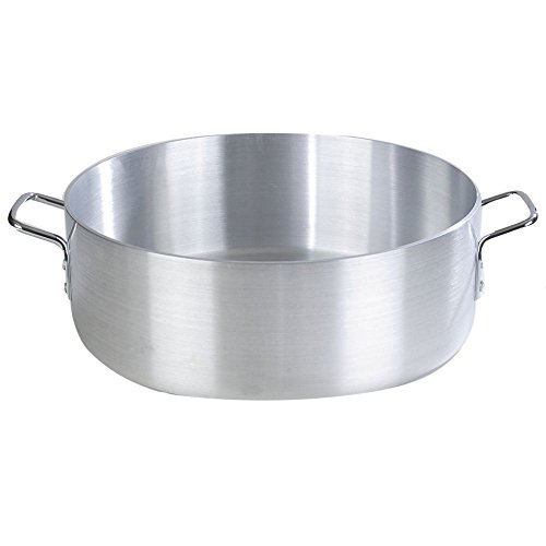 Carlisle 61130 Commercial Grade Aluminum Braizer Pan, Standard Weight, 30 Quart