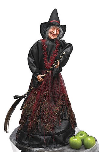 Cackling Moving Scary Light Up Witch Halloween Decoration