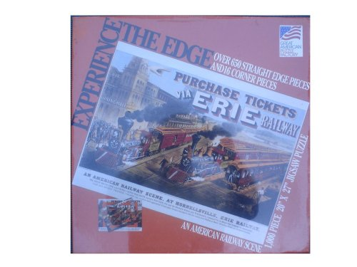 Experience the Edge 1,000 Piece Jigsaw Puzzle - An American Railway Scene at Hornellsville, Erie Railway