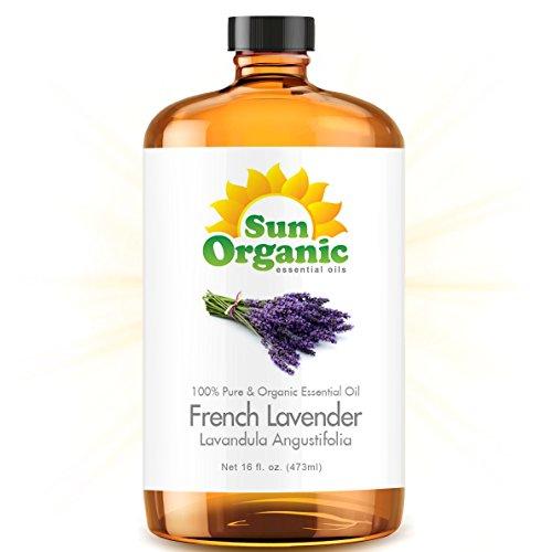 French Lavender - Ultra 16 Ounce - Organic, 100% Pure Essential Oil (Best 16 Fl Oz / 472Ml) - Sun Organic