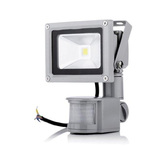 Generic 10W White 7000K Pir Sensor Led Flood Light Security Light 180° Motion Sensor Up To 12M Detection Range (White)