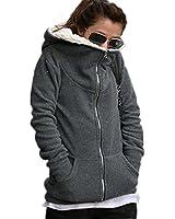 Minetom Sweats à capuche Dames De La Mode La Mode Casual Manteau À Capuchon D'Hiver À Capuchon De Pull Molletonné De Vêtements D'Extérieur