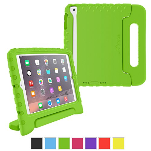 Ipad Mini 3 Case - Roocase Kidarmor Kid Proof Eva Series Ipad Mini Shock Proof Convertible Handle With Kickstand Kids Friendly Protective Cover Case For Apple Ipad Mini 3 (2014) - Compatible With Mini 1 / 2, Green front-275087