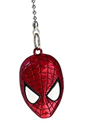 DC & Marvel comics SUPER HERO superhero character PEWTER Ceiling FAN PULL light chain (Spiderman Mask - red)