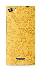 Amez designer printed 3d premium high quality back case cover for Micromax Canvas 5 (E481) (golden flowers petals)