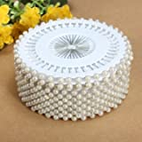 Souked 35mm 480Pcs White Round Head Pearl Decorating Sewing Pin Craft