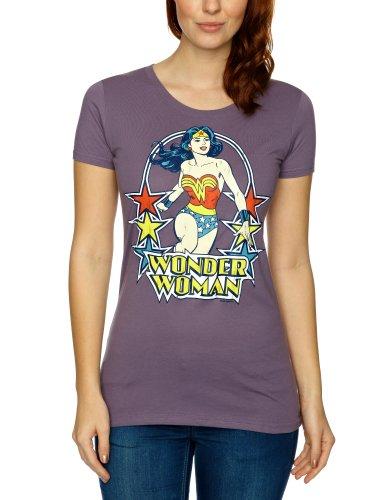 Logoshirt - Maglietta, colletto tondo, donna Viola (Lavender) S