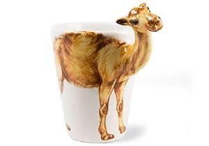Tasse à Café Chameau faite à la main (10cm x 8cm)