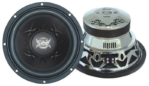Lanzar Vw154 Vibe 15-Inch 2000 Watt 4 Ohm Chrome Subwoofer