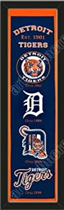 Heritage Banner Of Detroit Tigers-Framed Awesome & Beautiful-Must For A... by Art and More, Davenport, IA