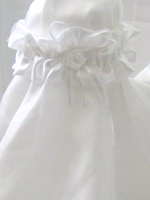 Strumpfband aus Satin in weiß