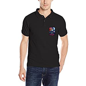 THOELLY Mens Stranger Things Poster POLO Shirt Black