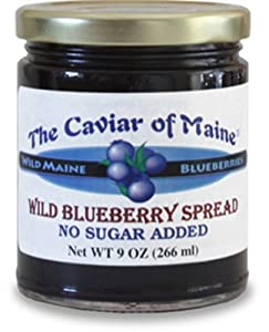 The Caviar of Maine, Wild Blueberry Spread 9-Ounce Jar (Pack of 3)