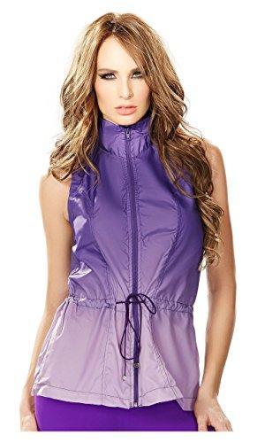 Babalu Fashion Women Sleeveless Jacket Vest Running Ladies Activewear Gym Sport Chaquetas Deportivas de Mujer Ropa para Dama Chaleco 35503 Purple