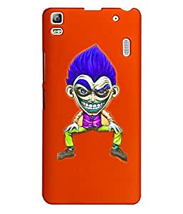 KolorEdge Back Cover For Lenovo A7000 - Orange (1395-Ke15189LenovoA7000Orange3D)