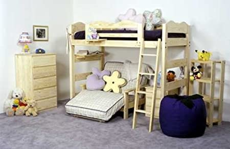 Complete Wave Loft Bed & Futon Bedroom Group