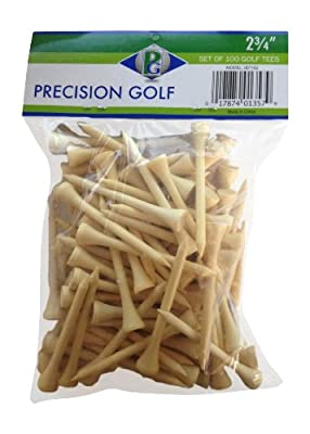 Precision Golf Golf Tees, 2-3/4-Inch (100 Count)