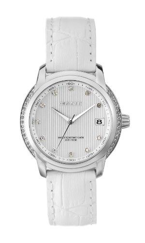 Gant Watches - Reloj analógico de cuarzo para mujer con correa de piel, color marrón