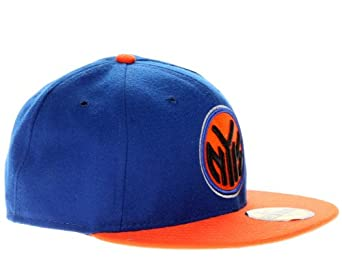 New York Knicks 5950 HWC 2013 Playoffs Blue Orange Fitted Hat by New Era