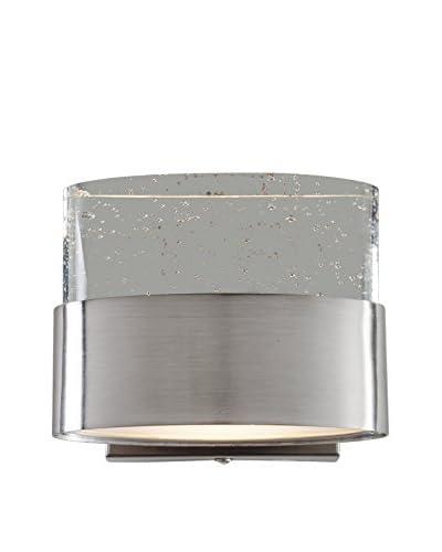 Varaluz Pop 1-Light Vanity, Satin Nickel/Bubbly K9 Crystal