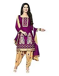 AASRI Women Cotton Unstitched Salwar Suit - B013M0VZ58
