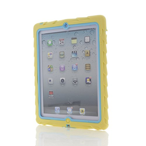 Gumdrop Cases Drop Tech Series Case for Apple iPad 4, iPad 3 and iPad 2, Designer Series - Yellow/Blue (DS-IPAD3-YLW-BLU)