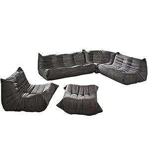 Lexington Modern Waverunner Modular Sectional Sofa Set, Light Gray, 5-Piece from Lexington Modern