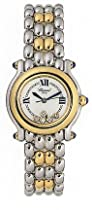 Chopard Happy Sport Diamond 18kt Yellow Gold And Steel Ladies Watch 27/8256-23