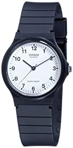 CASIO Collection MQ-24-7BLLGF - Reloj unisex de cuarzo, correa de resina color negro por Casio