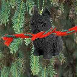 Brussells Griffon Miniature Dog Ornament - Black