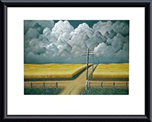 Gray and Gold, 1942, Framed Art Print by John Rogers Cox