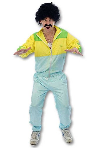 Adult Men's Funny, 80's Scouser, Chav Shell Suit