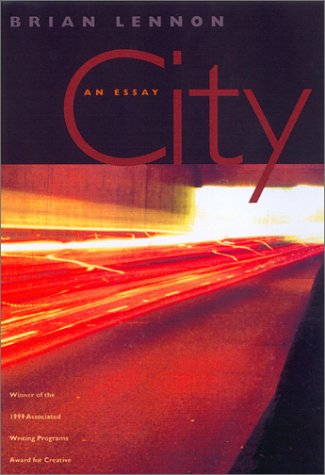 Book cover for City: An Essay