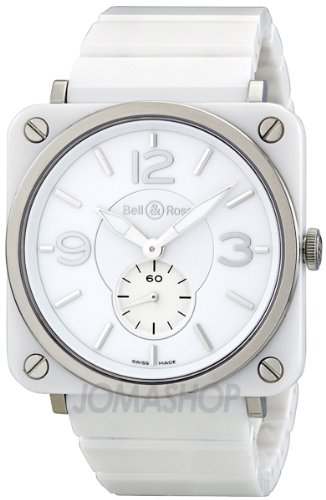 Bell & Ross Men's BRS-WHITECRMC-B Aviation Gleaming White Ceramic Watch