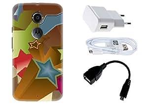 Spygen Motorola Google Nexus 6 Case Combo of Premium Quality Designer Printed 3D Lightweight Slim Matte Finish Hard Case Back Cover + Charger Adapter + High Speed Data Cable + Premium Quality OTG
