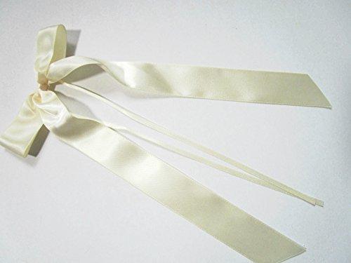 Lot de 20 nœuds de 11 x 20 cm : crème