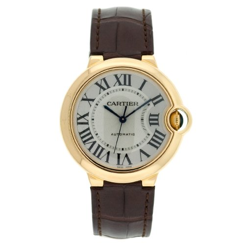 Cartier Unisex W6900356 Ballon Bleu Automatic Yellow Gold Leather Watch