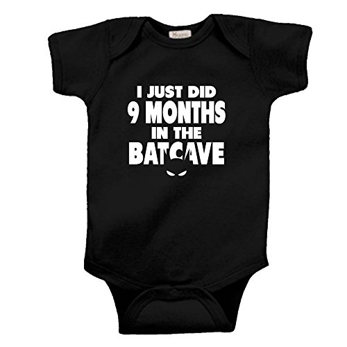 I Spent 9 Months in the Batcave Shirt Gift Costume FUNNY INFANT baby shirt creeper