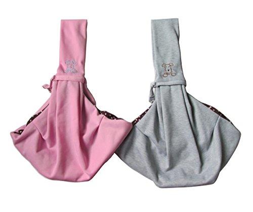 Penta Angel Chico Reversible Pets Sling Carrier Pet Dog Cat Carrier Pet Cloth Totes Single Shoulder Bag (Pink)