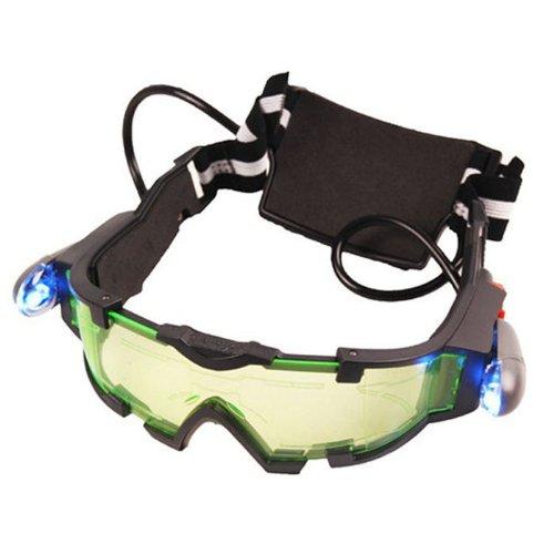 Bestpriceam Green Lens Adjustable Elastic Band Night Vision Goggles Glasses Eyeshield Te