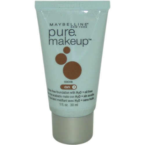 Maybelline Pure Makeup, Cocoa Dark 3, 1 Ounce