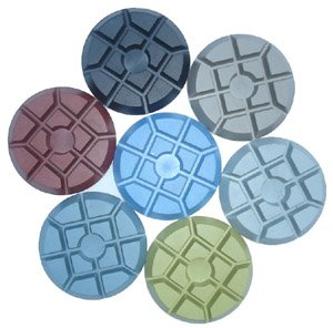 "Concrete Floor Pads - 3"" C-Shine Diamond Concrete Floor Polishing Pads"
