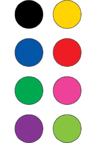 20 Pack TEACHER CREATED RESOURCES COLORFUL CIRCLES MINI STICKERS