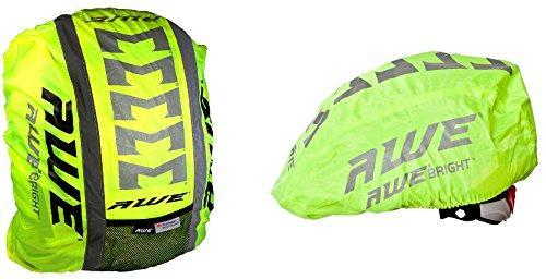 AWE® Hohe Sichtbarkeit 3M Scotchlite reflektierende Helm & Rucksack Abdeckung Set
