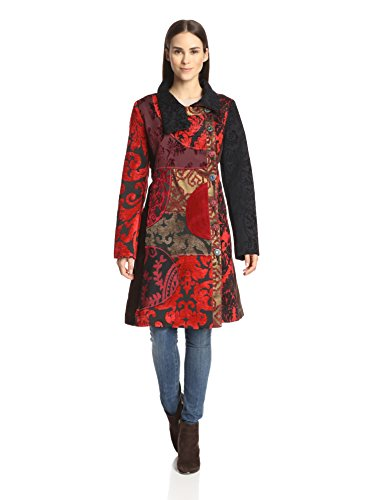 Desigual Women's Combo Coat with Stand Collar