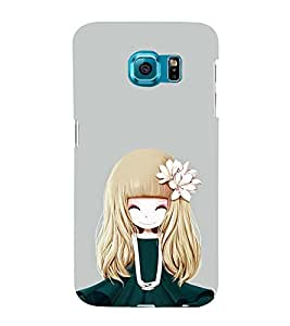 iFasho Girl with Flower in Hair Back Case Cover for Samsung Galaxy S6 Edge Plus