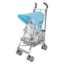 Maclaren Volo Stroller - Silver Rotary Print Blue