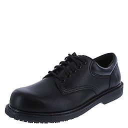 safeTstep Men\'s Black Men\'s Manager Oxford 10.5 Wide